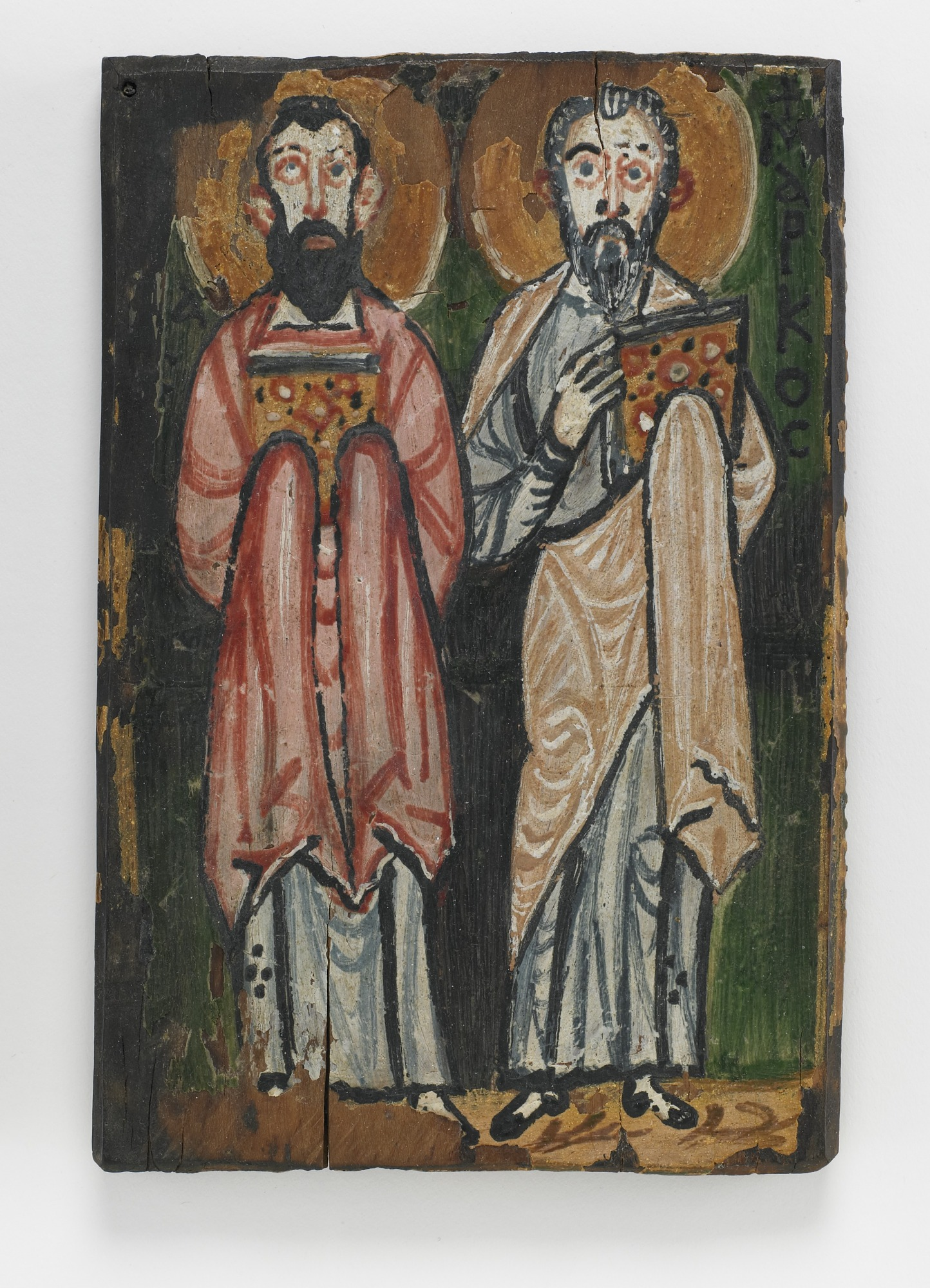 St. Mark and St. Luke; Right cover of The Washington Manuscript of the Gospels