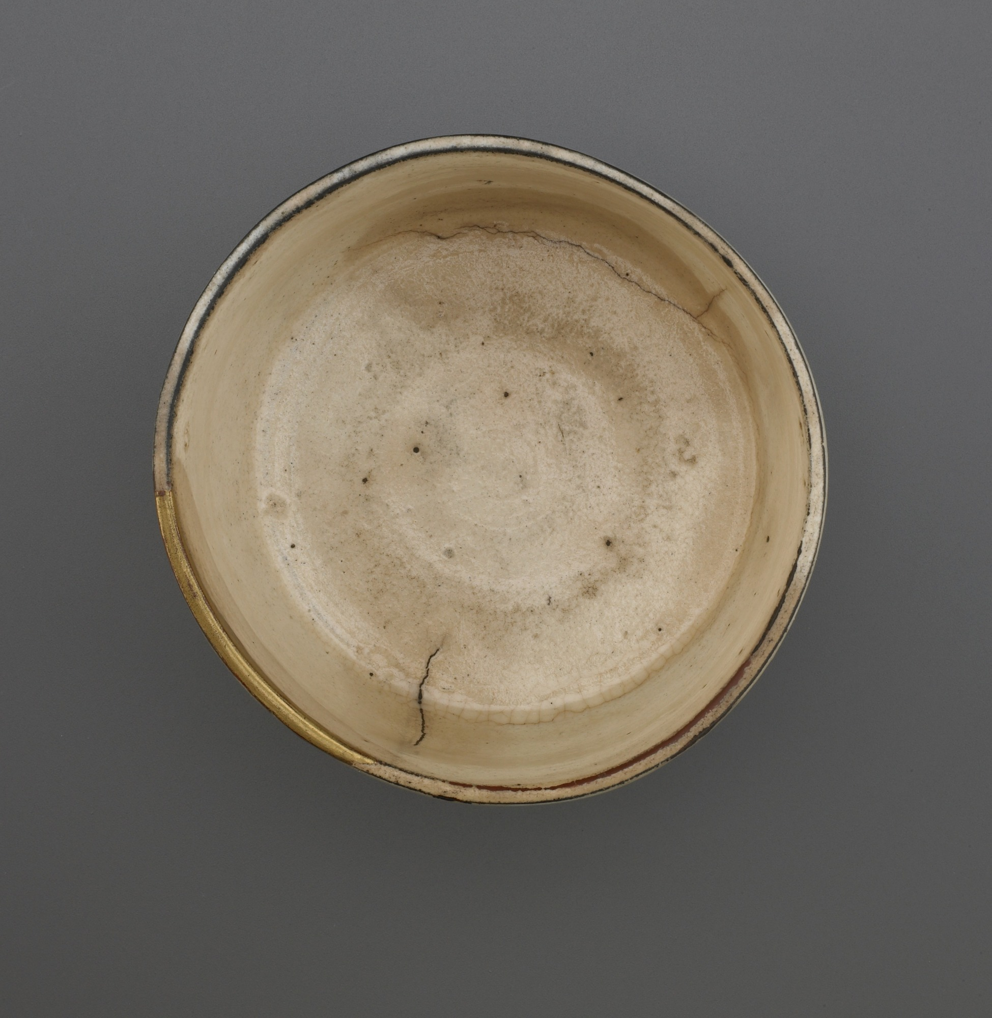 interior: Cylindrical tea bowl