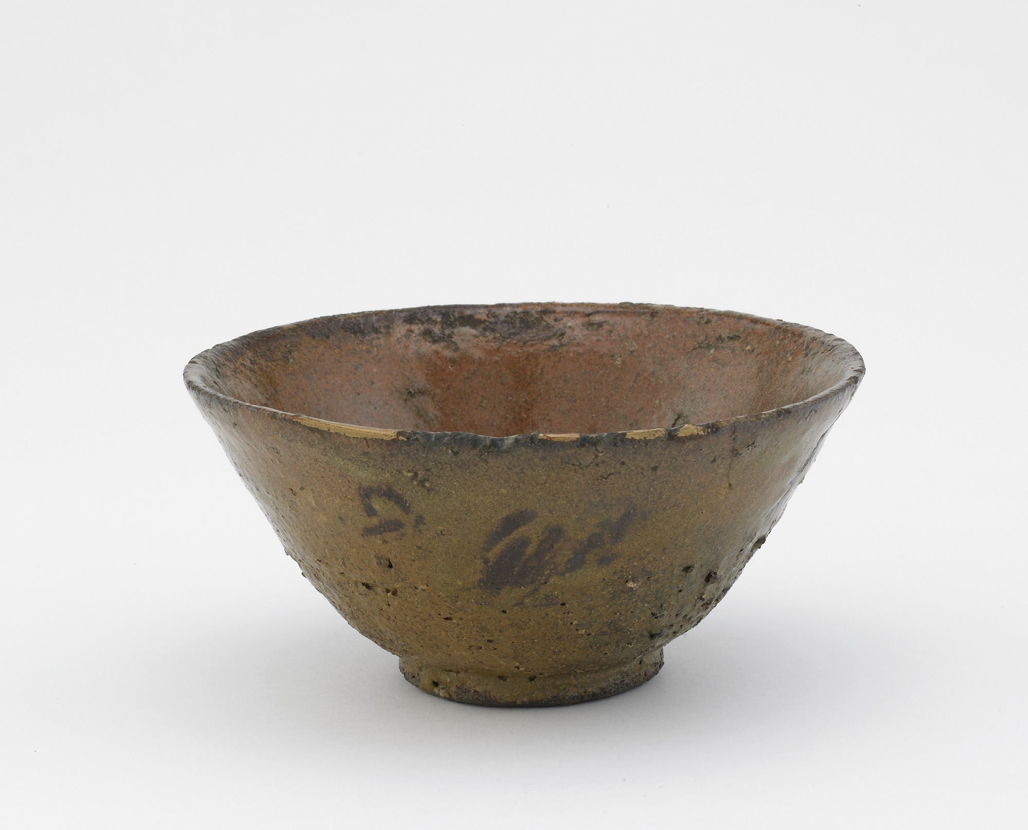 3/4 profile: Tea bowl, Ki-Irabo type
