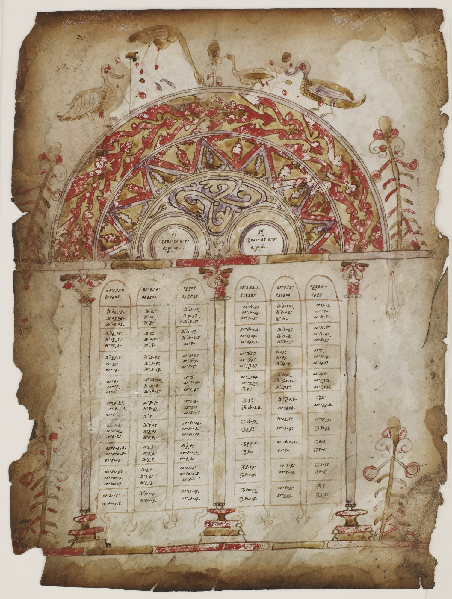 verso: Canon Tables from a Gospel