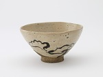 Tea bowl with design of fungus of immortality, unknown workshop