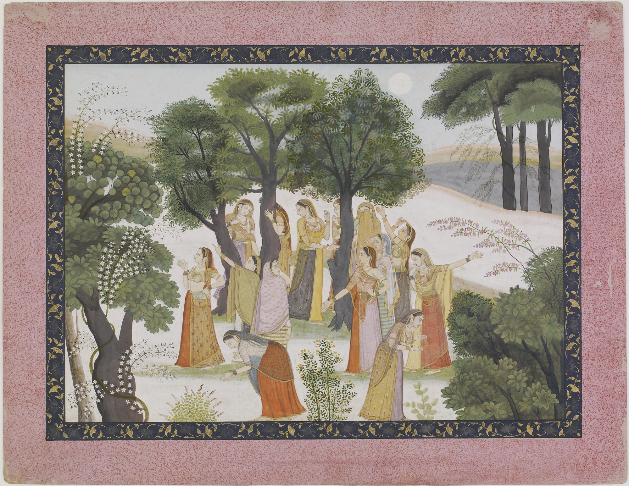 The Gopis Search for Krishna from a Bhagavata Purana