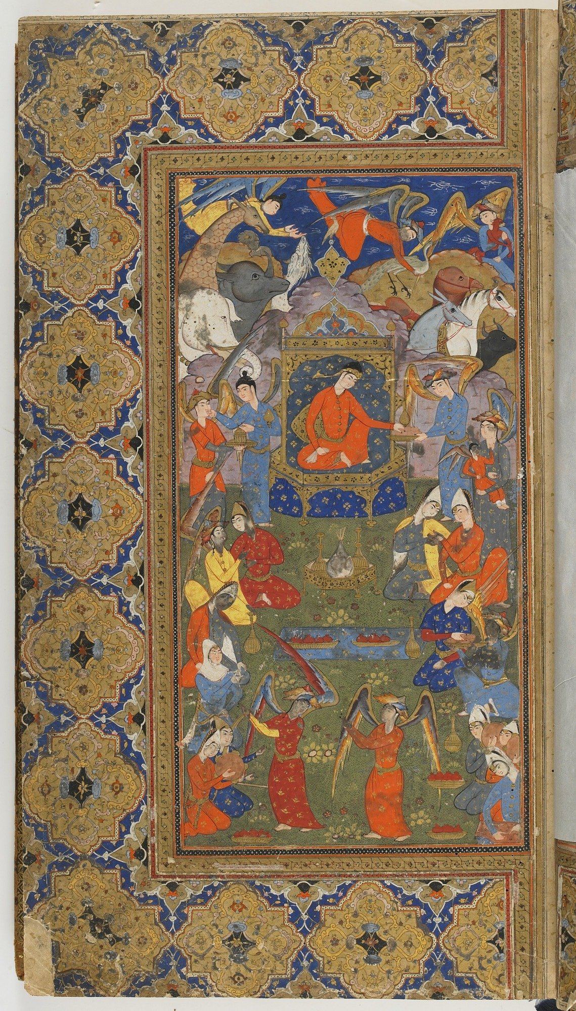 folio 3 recto: The Shahnama (Book of kings) by Firdausi (d. 1020)