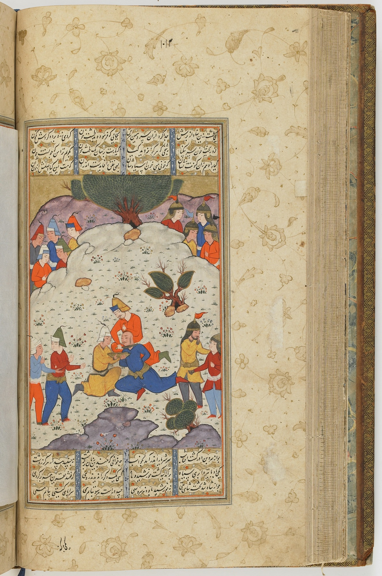 folio 113 verso: The Shahnama (Book of kings) by Firdausi (d. 1020)