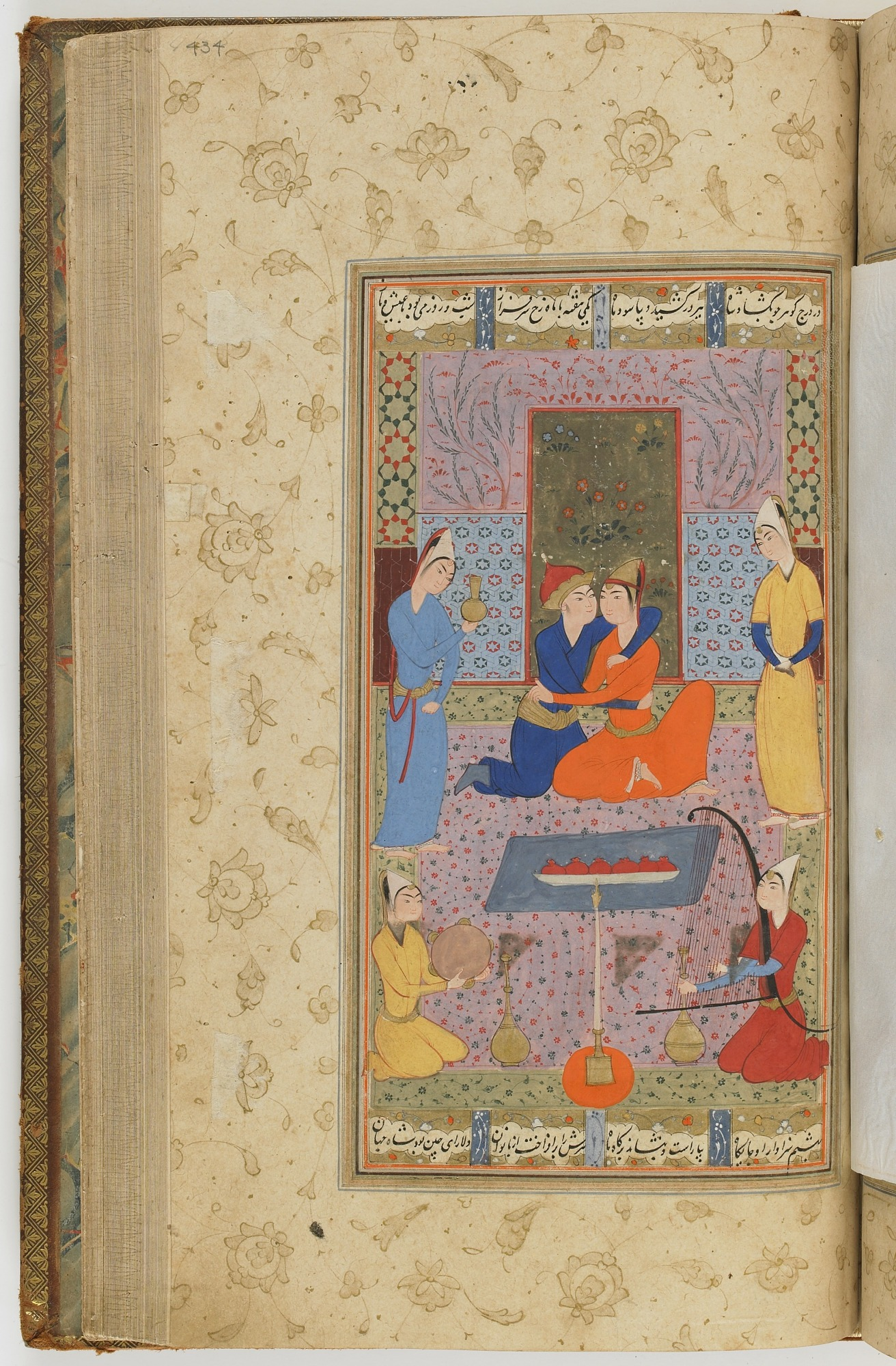 folio 434 recto: The Shahnama (Book of kings) by Firdausi (d. 1020)