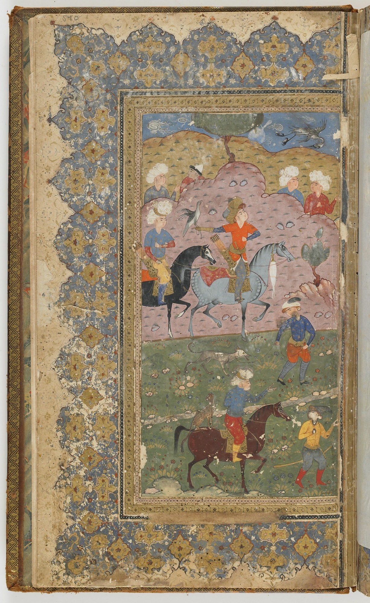 folio 540 recto: The Shahnama (Book of kings) by Firdausi (d. 1020)