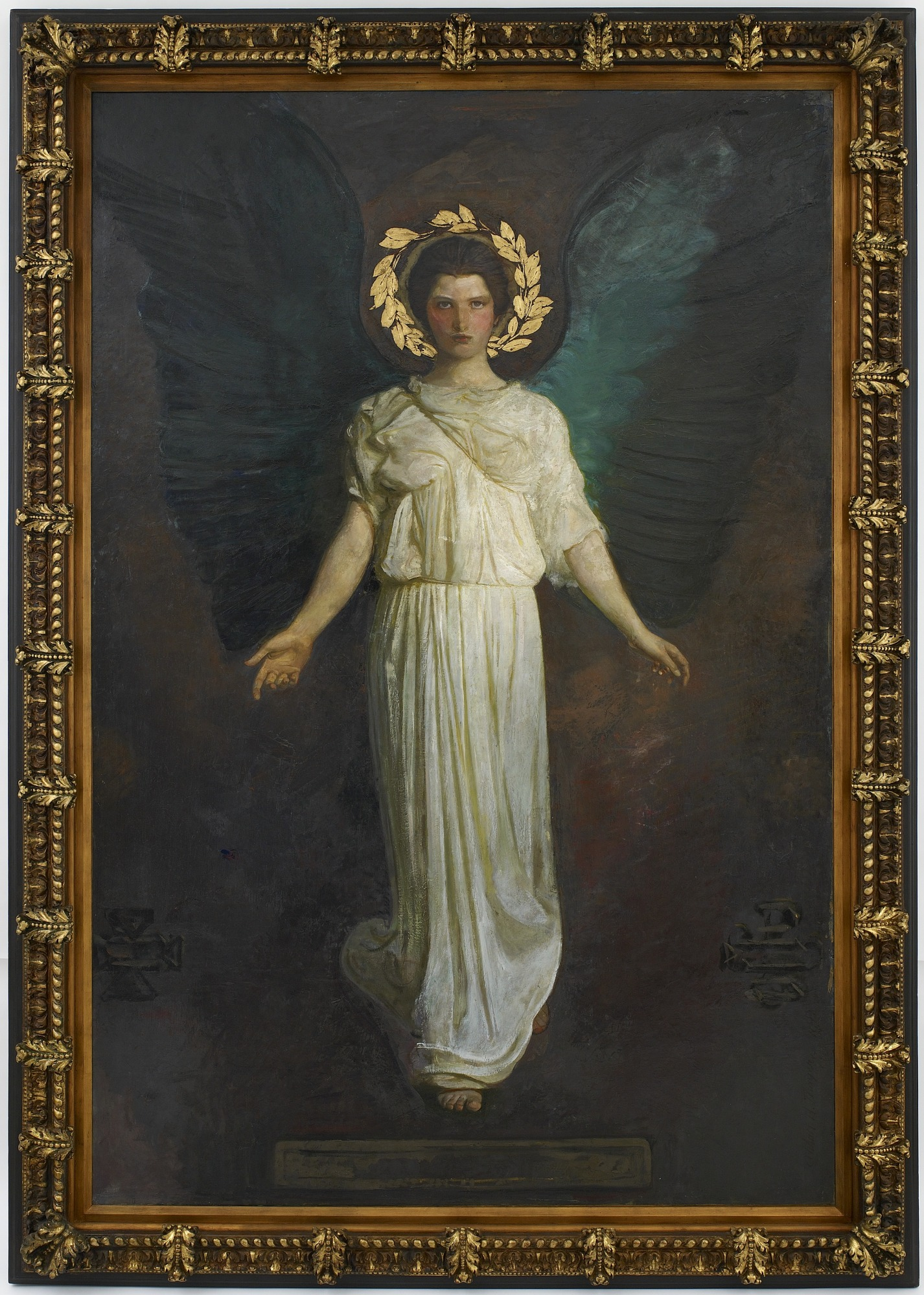 with frame: A Winged Figure