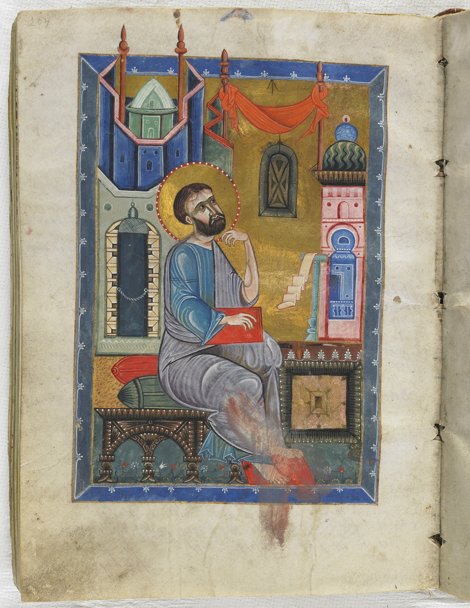 folio 204: The Gospel according to the Four Evangelists