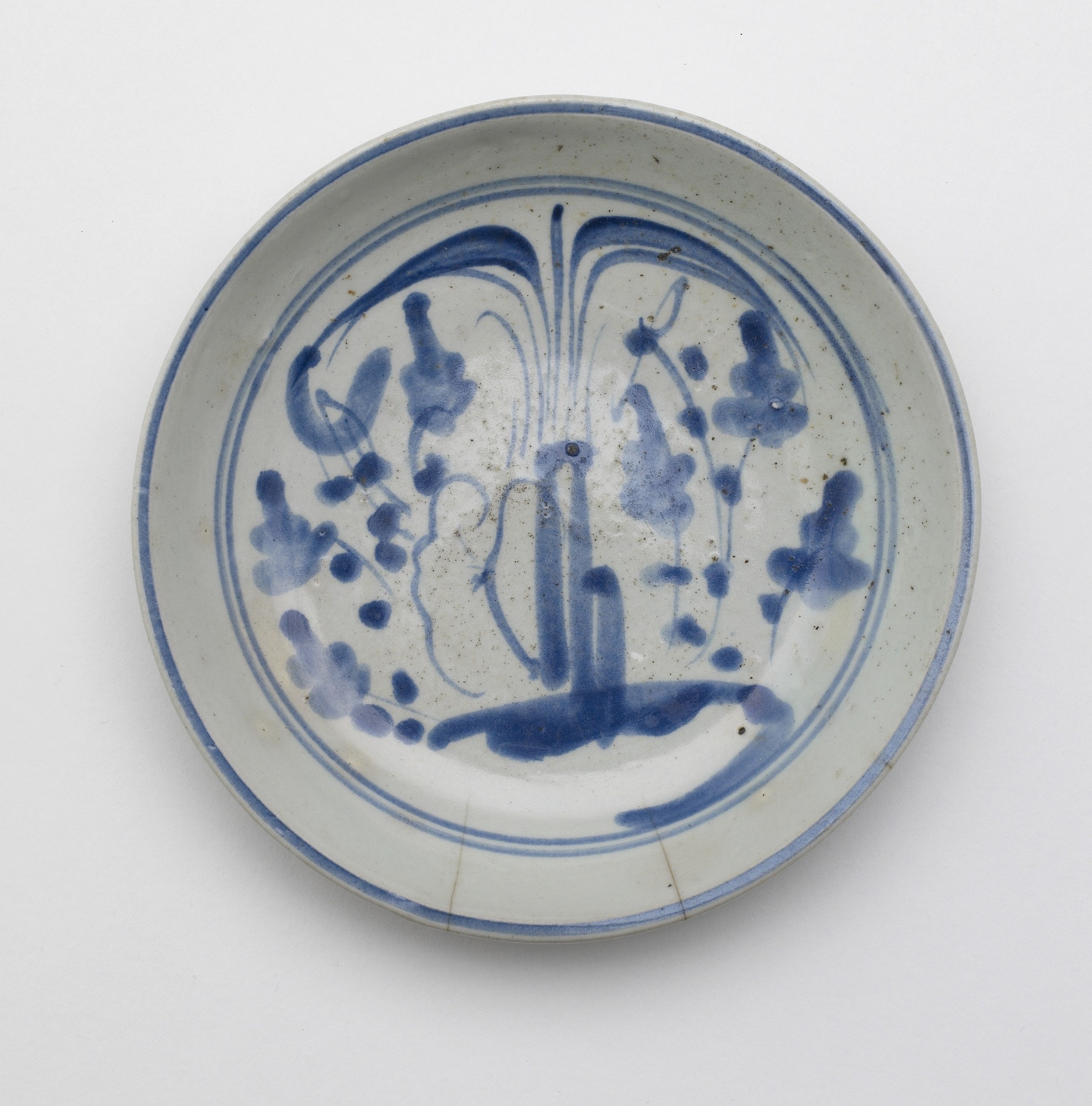 "Dish with design of ""Three Friends"""