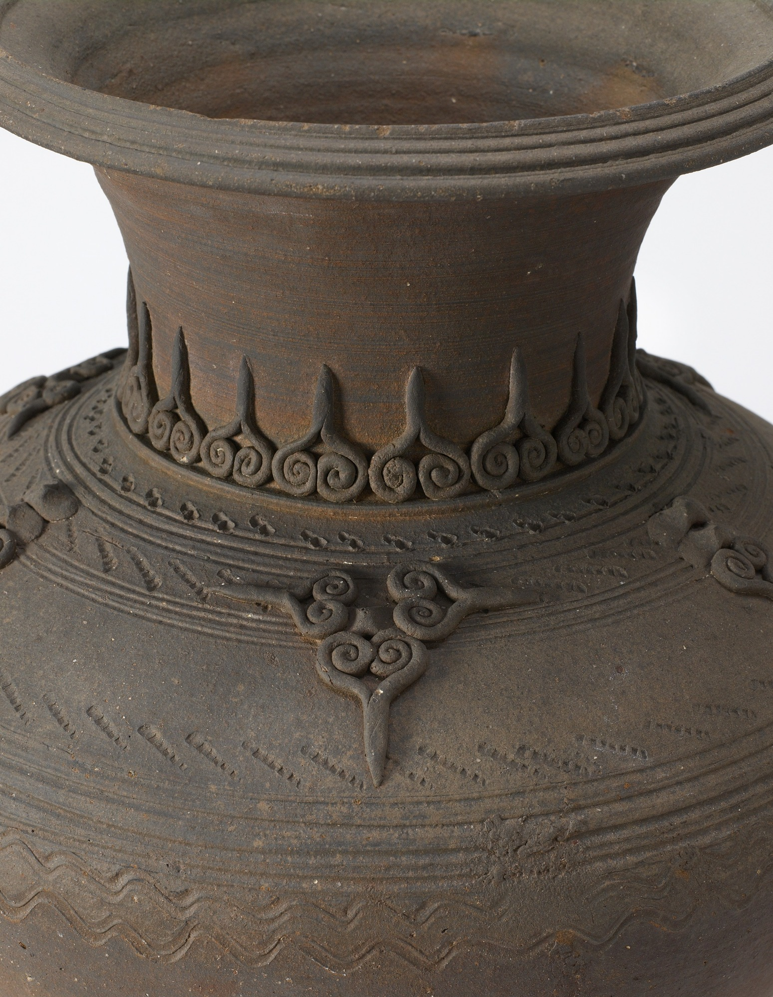: Jar with incised and applied decoration