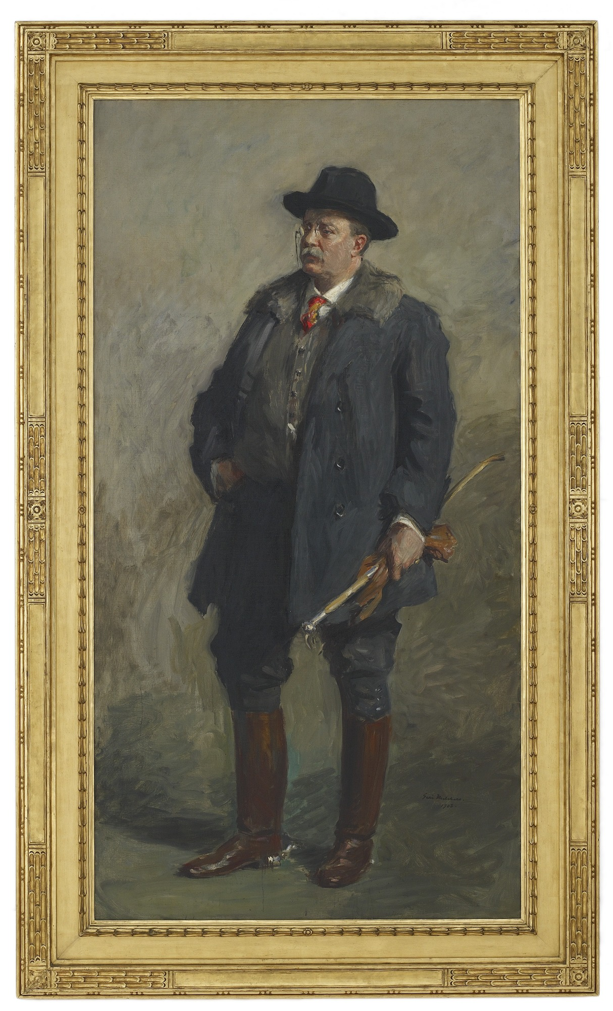 with frame: Portrait of President Theodore Roosevelt
