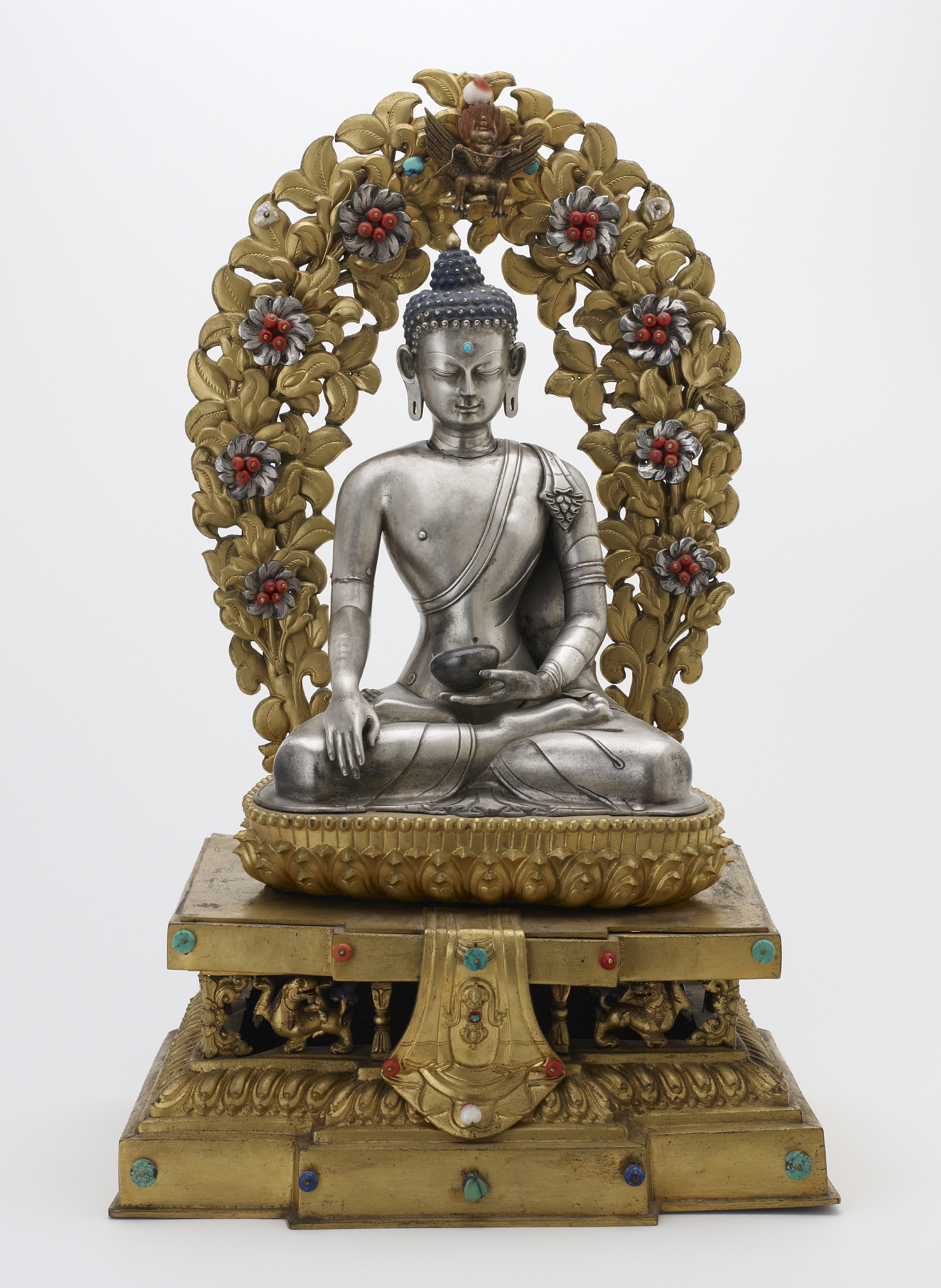 Shakyamuni Buddha in a full shrine