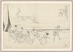 Preparatory drawing for a print in the series Hyakunin isshu uba ge etoki: Kamakura no Udaijin