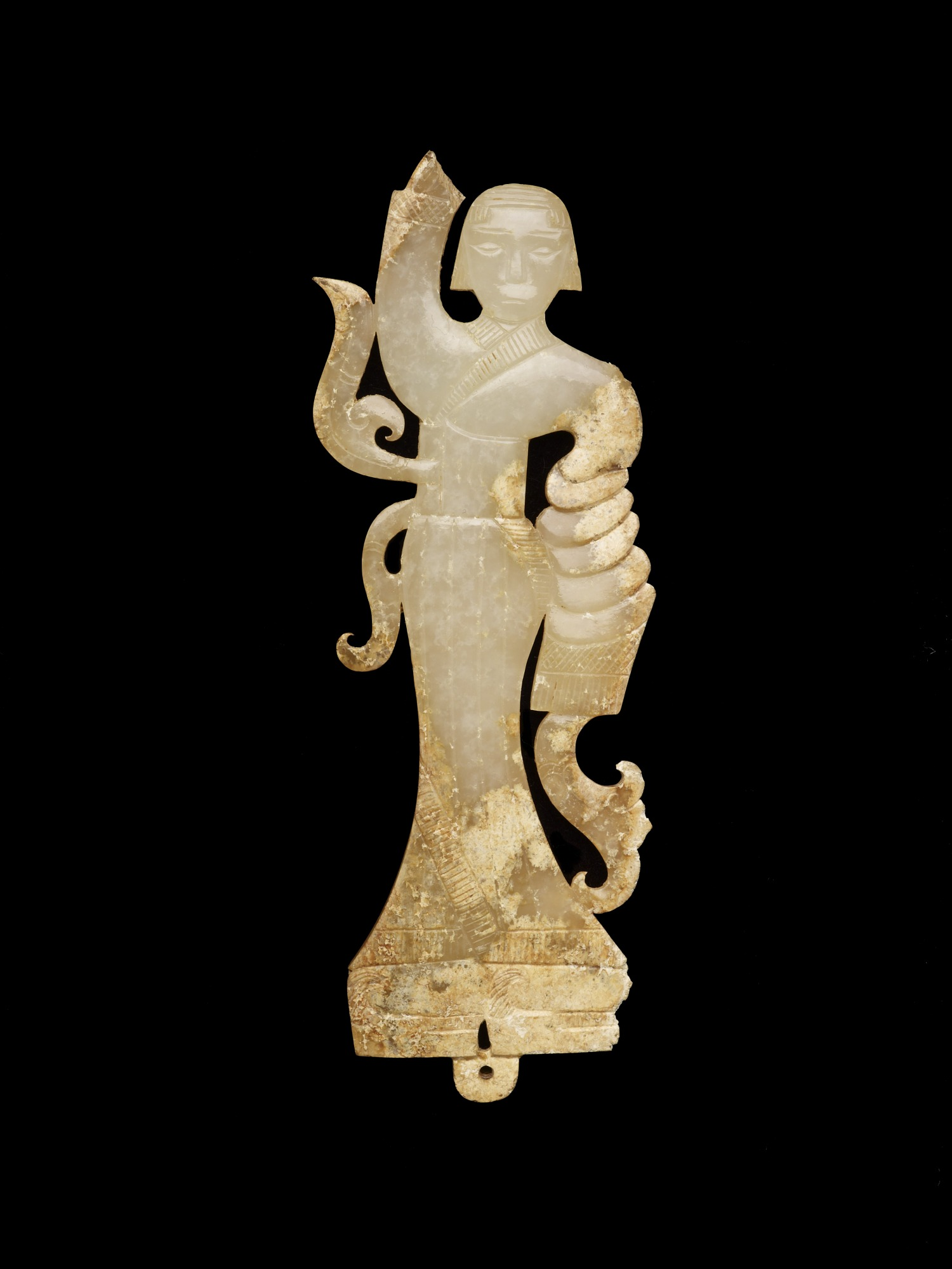 front: Pendant in the form of a female dancer