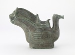 Lidded ritual wine ewer (guang) in the form of a tiger, owl, and and water bird