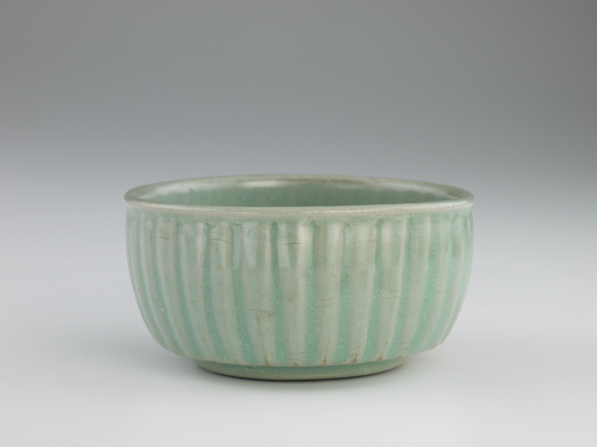 Bowl with molded and incised decoration of bamboo, profile
