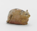 Figure of a cat, probably Kyoto ware