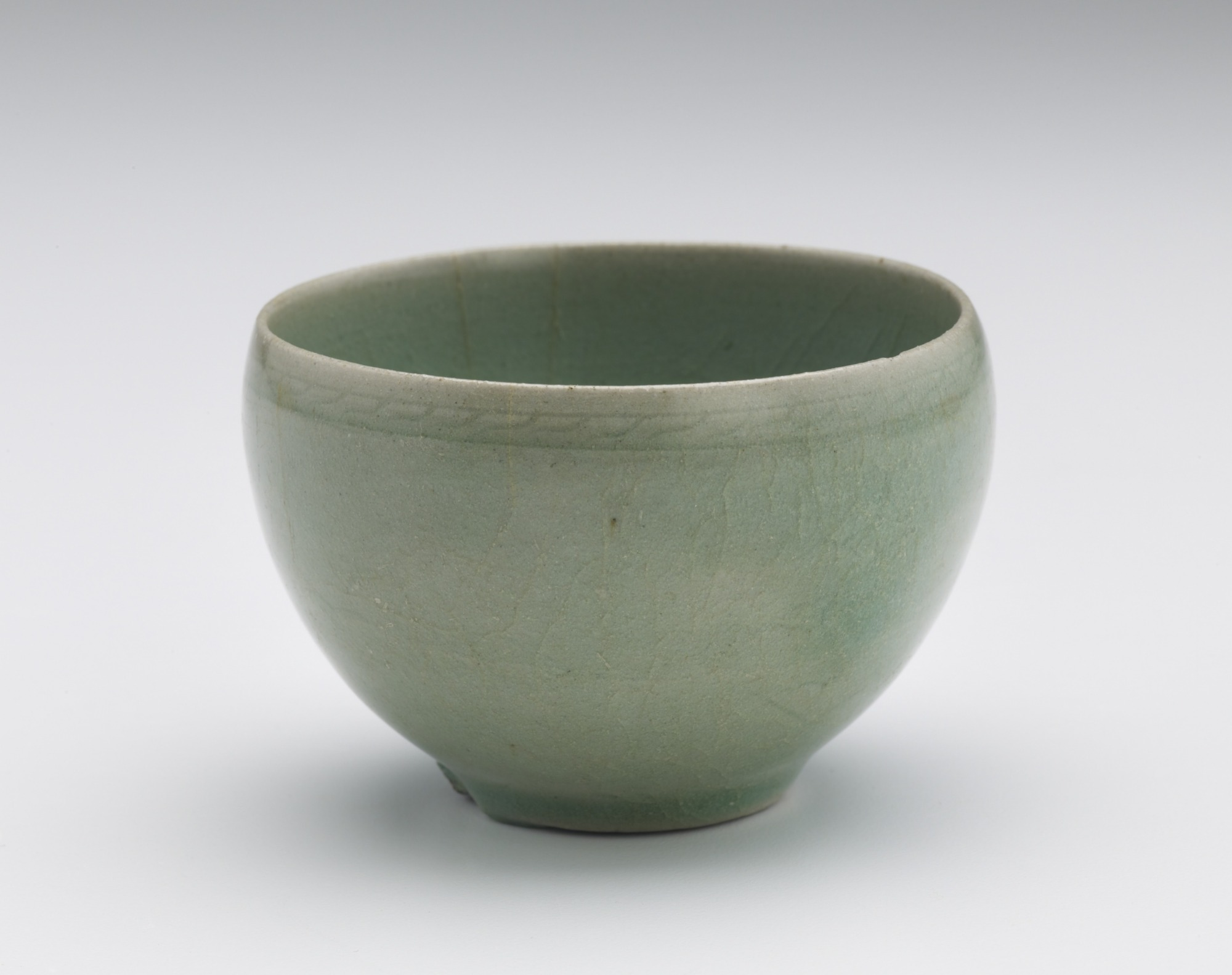 Cup with incised floral decoration, profile