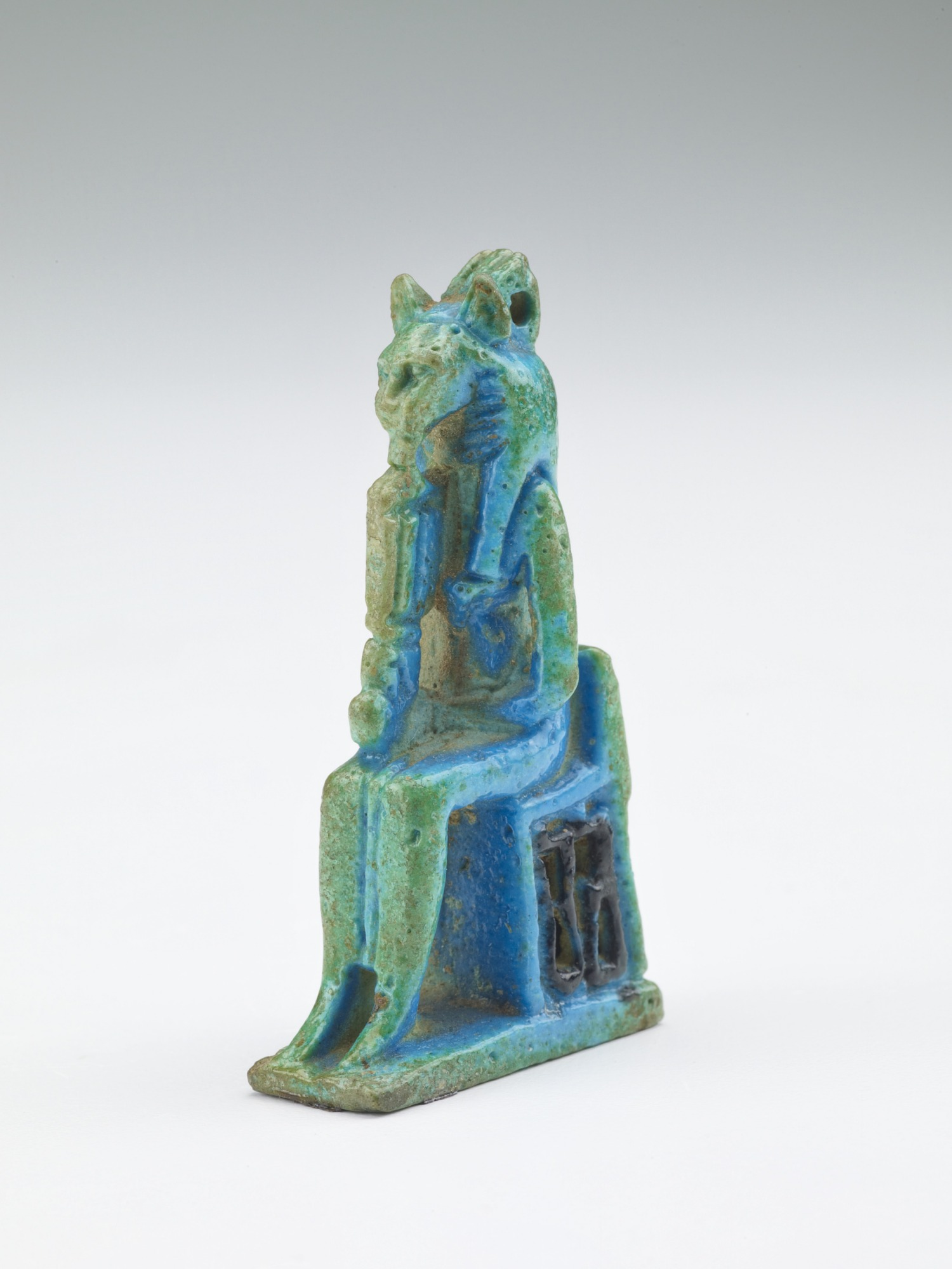 3/4 proper left: Amulet of the goddess Sakhmet