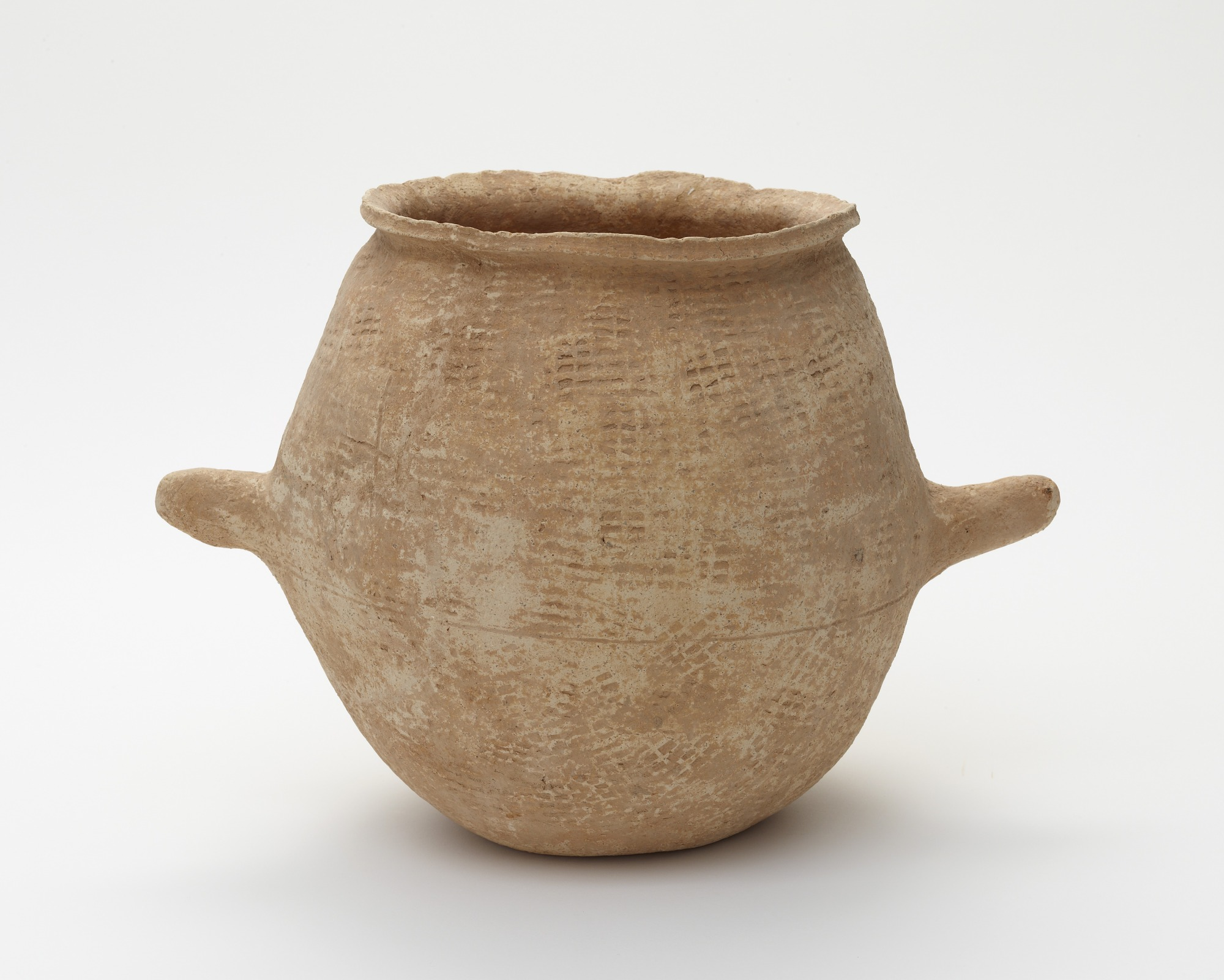 Cooking pot with two handles, profile