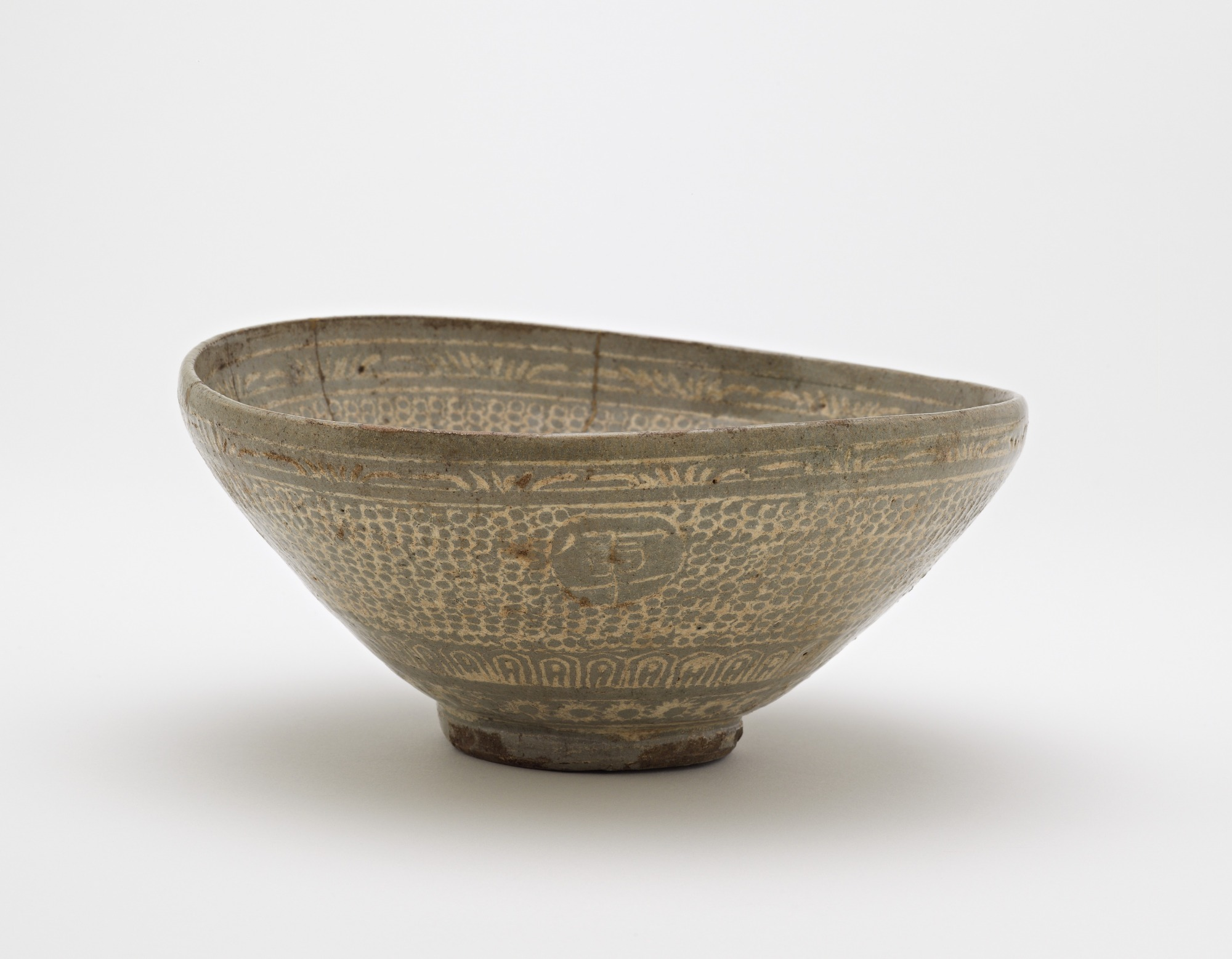 profile: Bowl with inlaid inscription