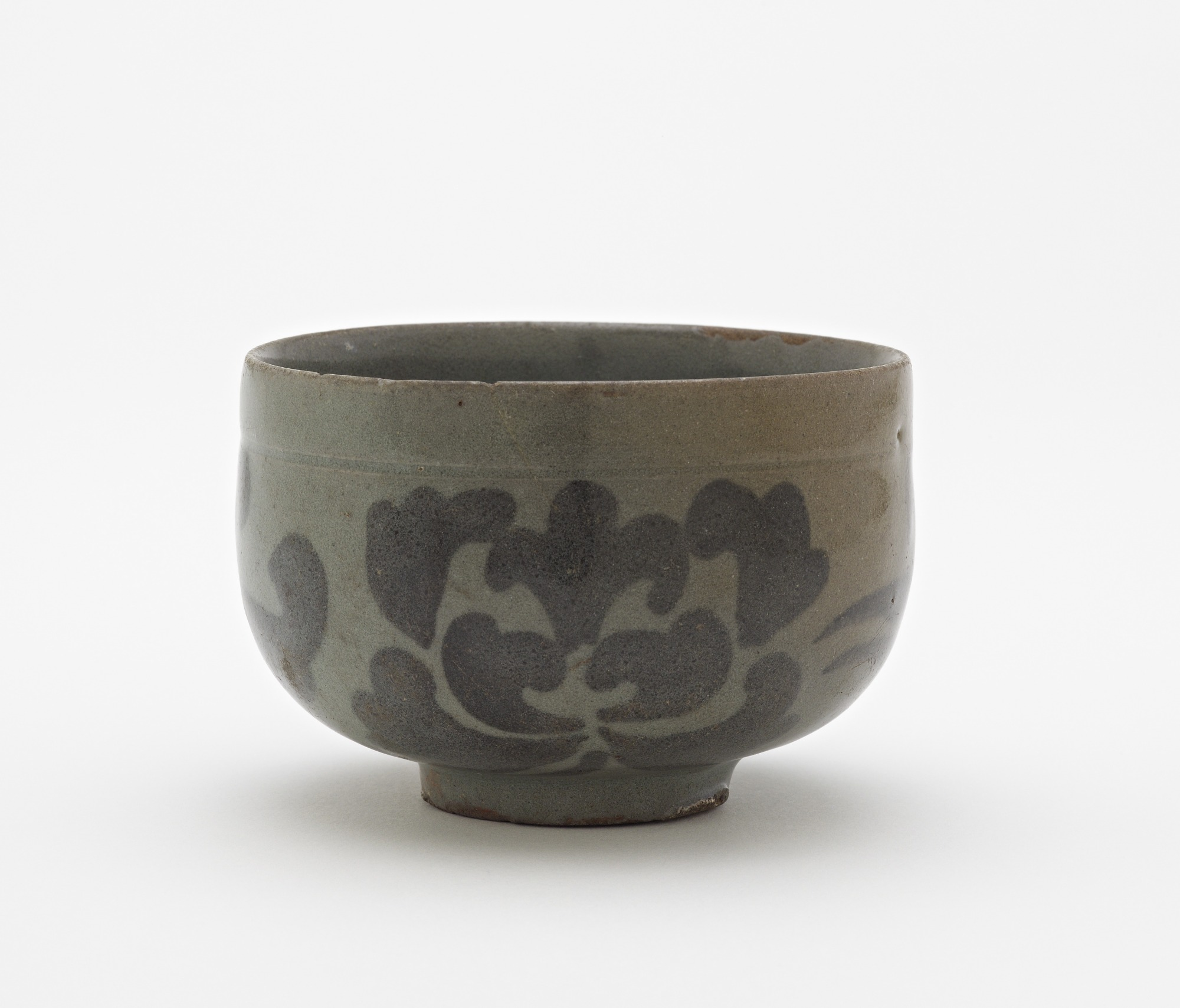 Cup with design of peony blossoms, profile