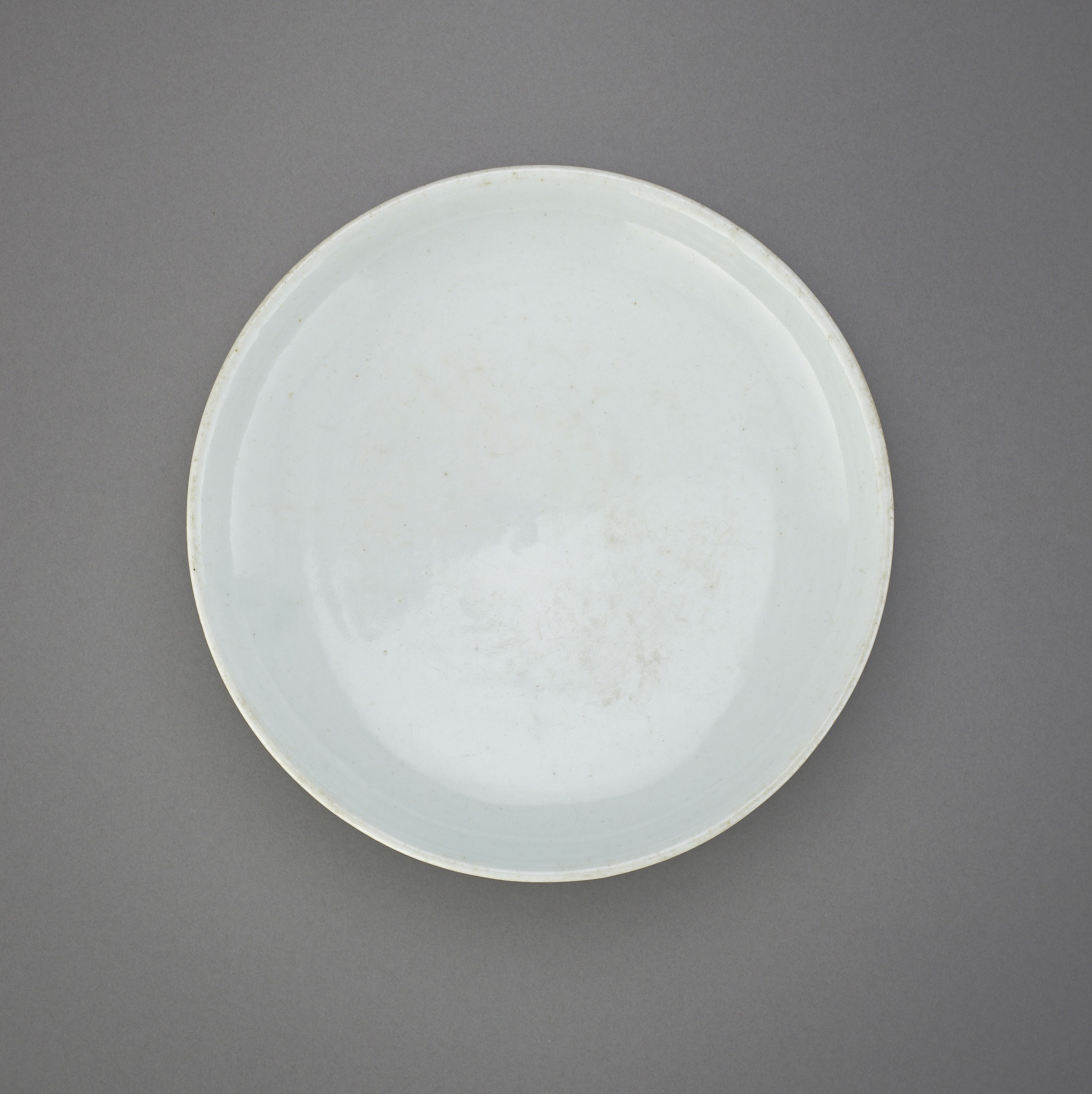 interior: Dish with inventory inscription dated 1832