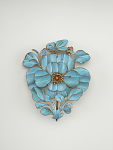 Headdress ornament in the form of a flower and butterfly