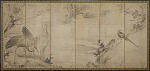 Birds, flowers and trees: on the back, bamboo trees