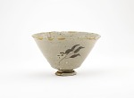 Mino ware bowl with pedestal foot, Oribe style