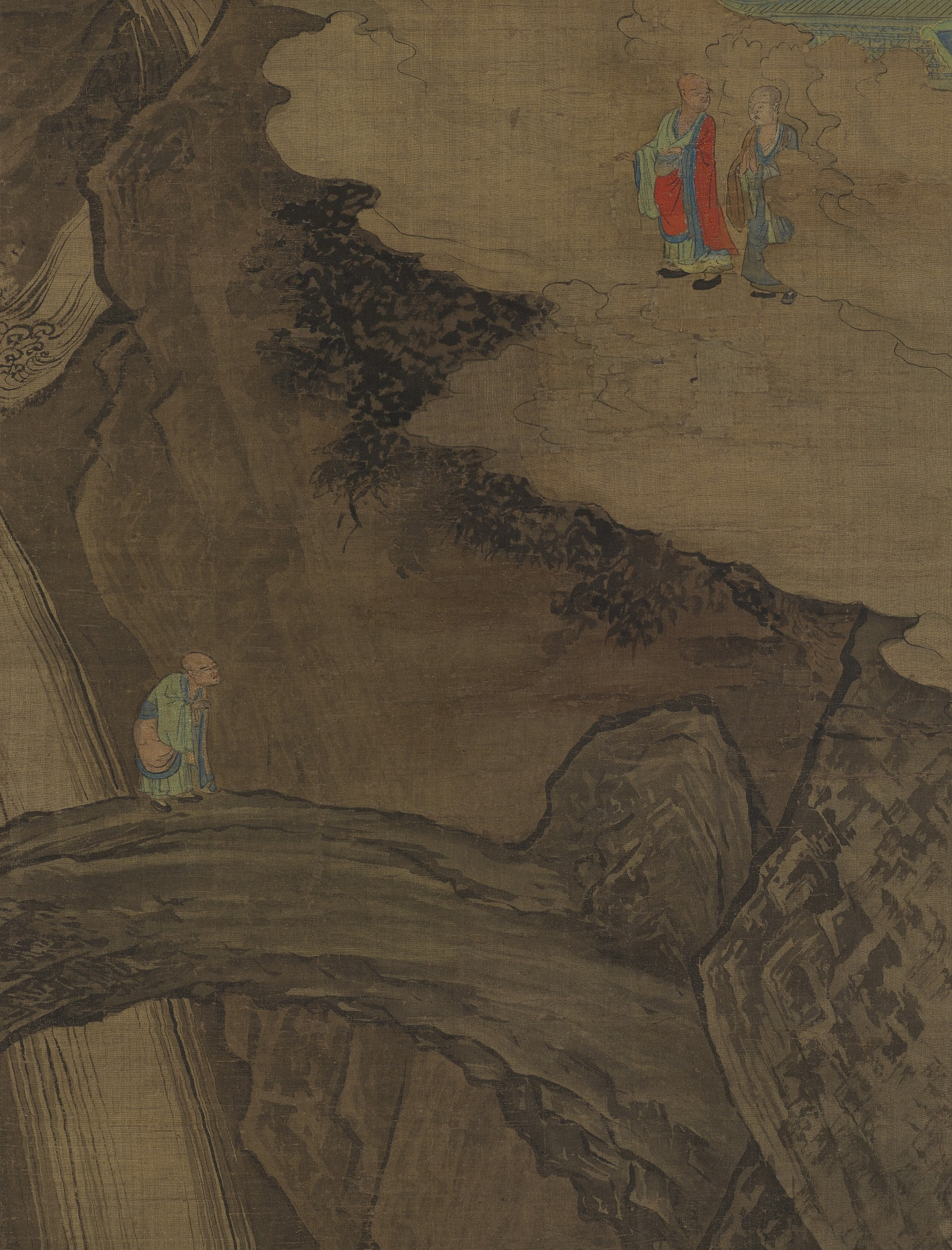 detail: The Rock Bridge at Mount Tiantai