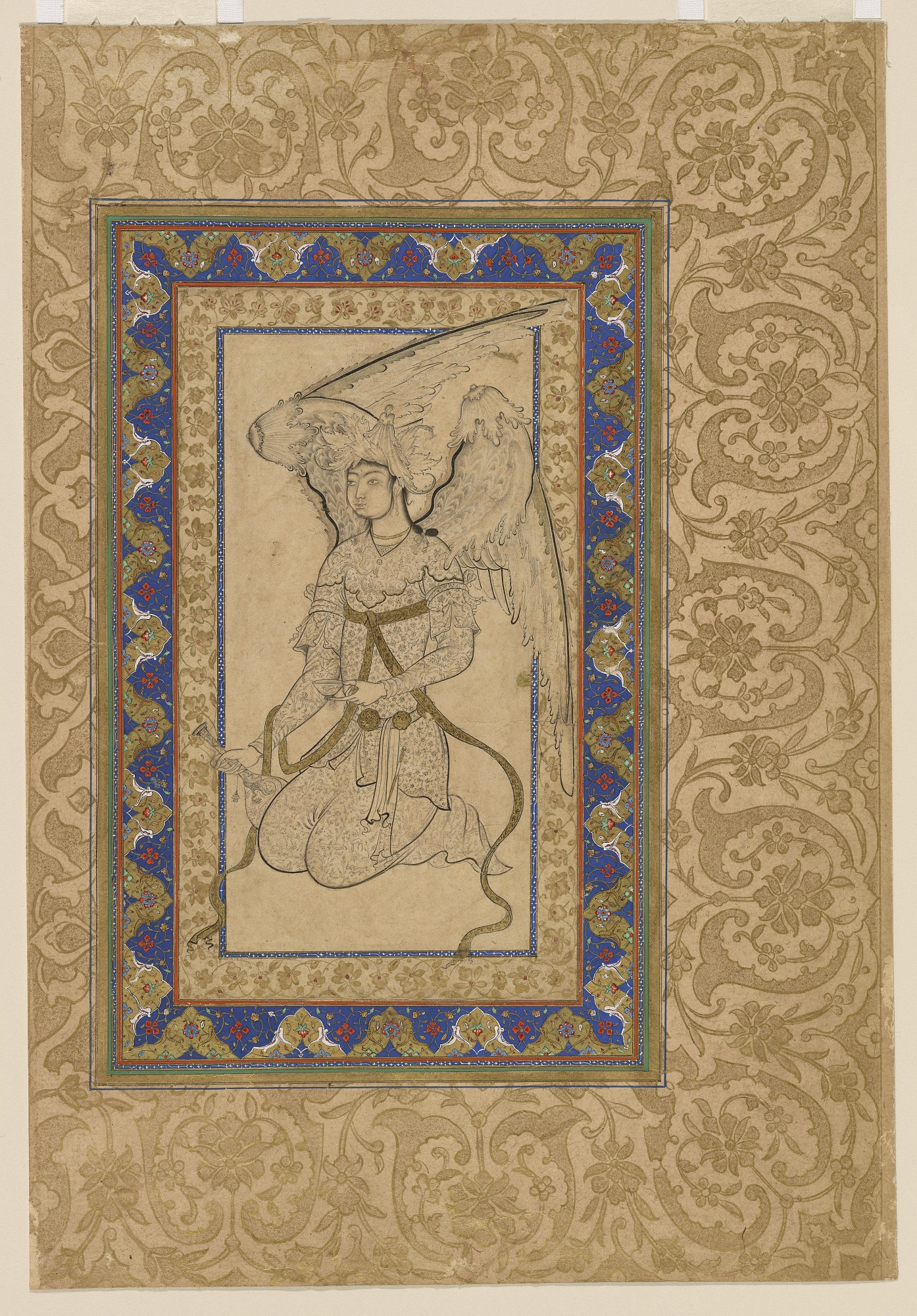 Kneeling Angel with Cup and Bottle
