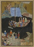 Folio from a Khamsa (Quintet) by Amir Khusraw Dihlavi (d. 1325); The abduction by sea