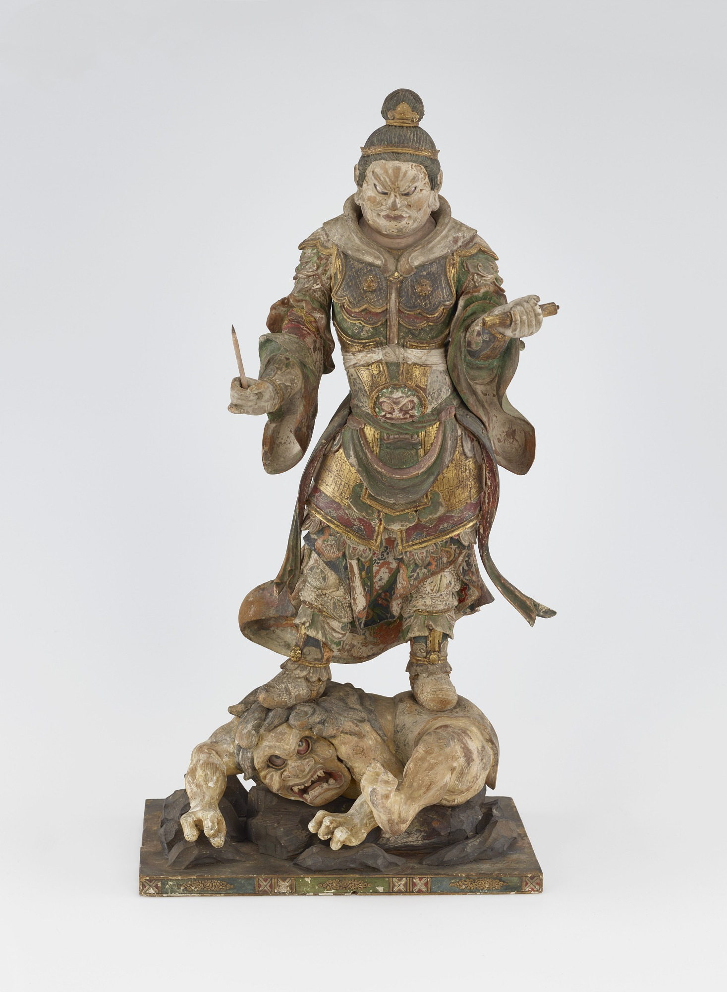 front: Komoku-ten, Guardian of the West, one of a set of four Shitenno (Guardian Figures)