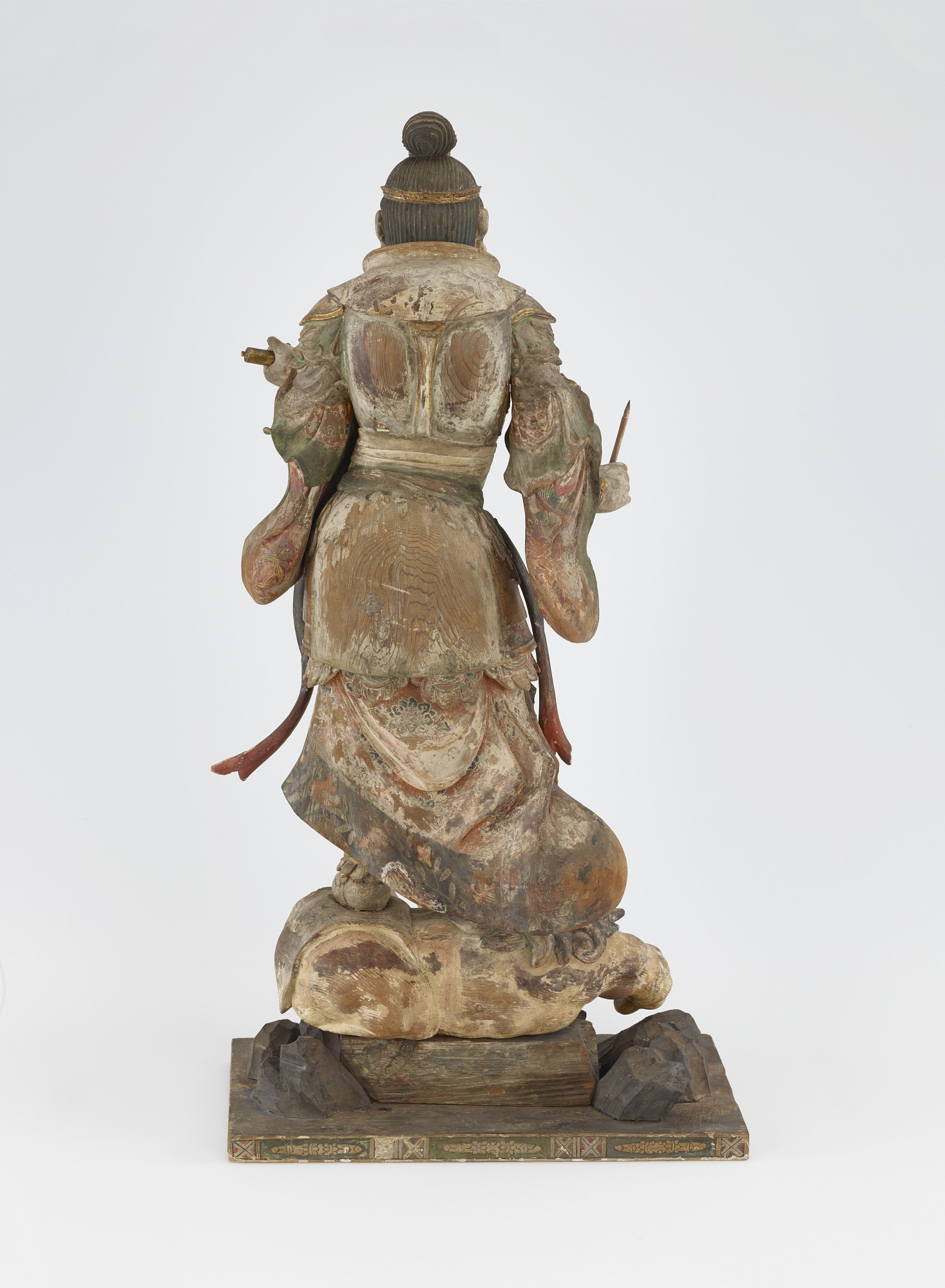 back: Komoku-ten, Guardian of the West, one of a set of four Shitenno (Guardian Figures)