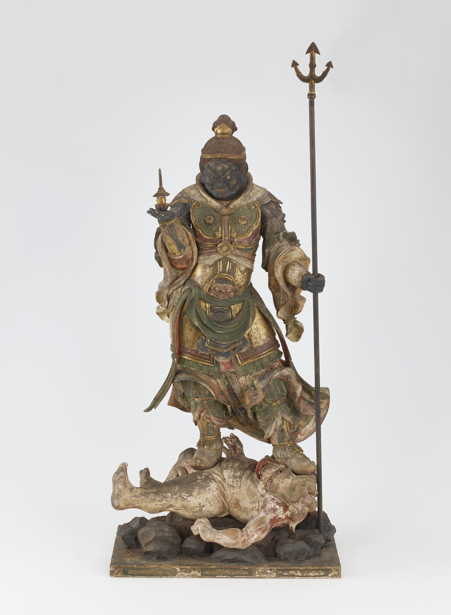 Tamon-ten, Guardian of the North, one of a set of four Shitenno (Guardian Figures)