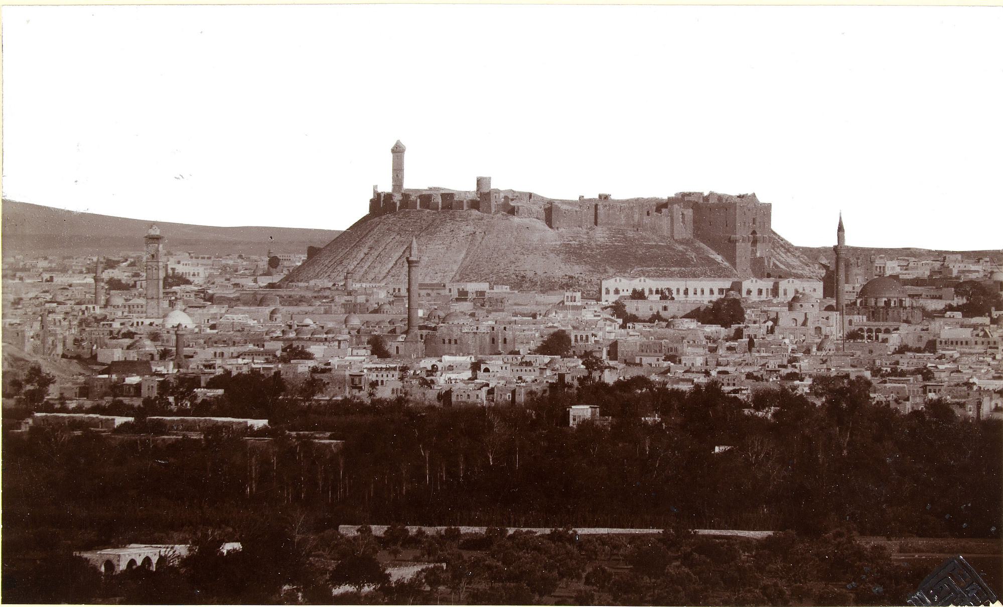 Citadel from outside Bab Antakiya, Ernst Herzfeld Papers