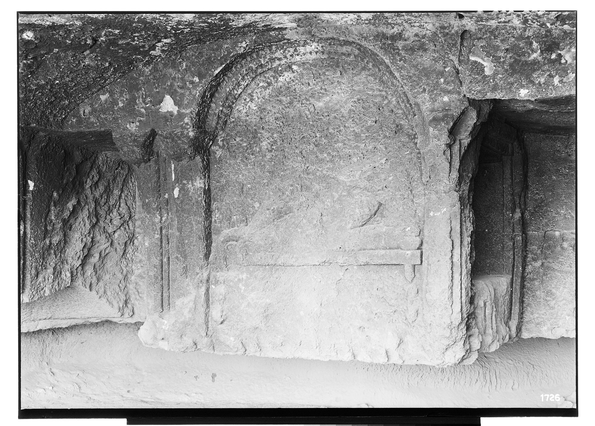 Island of Kharg (Iran): Southern Tomb with Relief Depicting a Single Reclining Male on a Couch, Excavated out of the Surface Rock of the Plateau [graphic]
