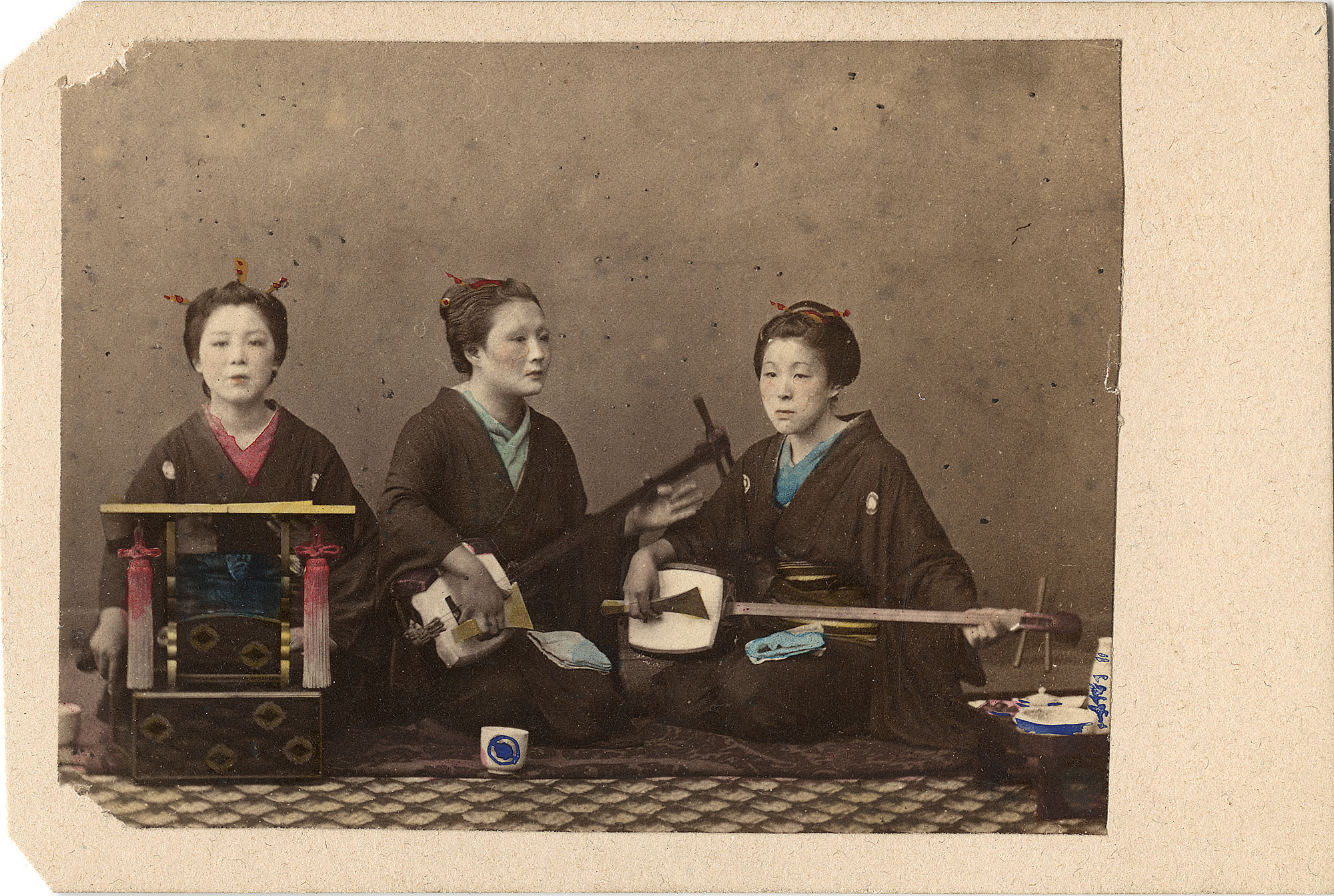 Music Girls, ca. 1860s. graphic