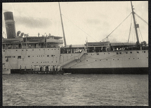The USS Logan, possibly at Cebu