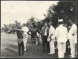 Zamboanga: Wiiliam H. Taft greets the Datu Piang at Zamboanga parade grounds