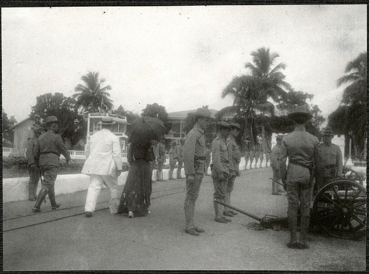 Jolo: William H. Taft and Alice Roosevelt leaving the dock