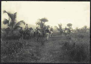Jolo: The Sultan of Sulu and his attendants on horseback