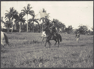 Jolo: Sultan of Sulu on horseback