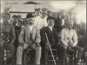 Jolo: The Sultan of Sulu with attendants