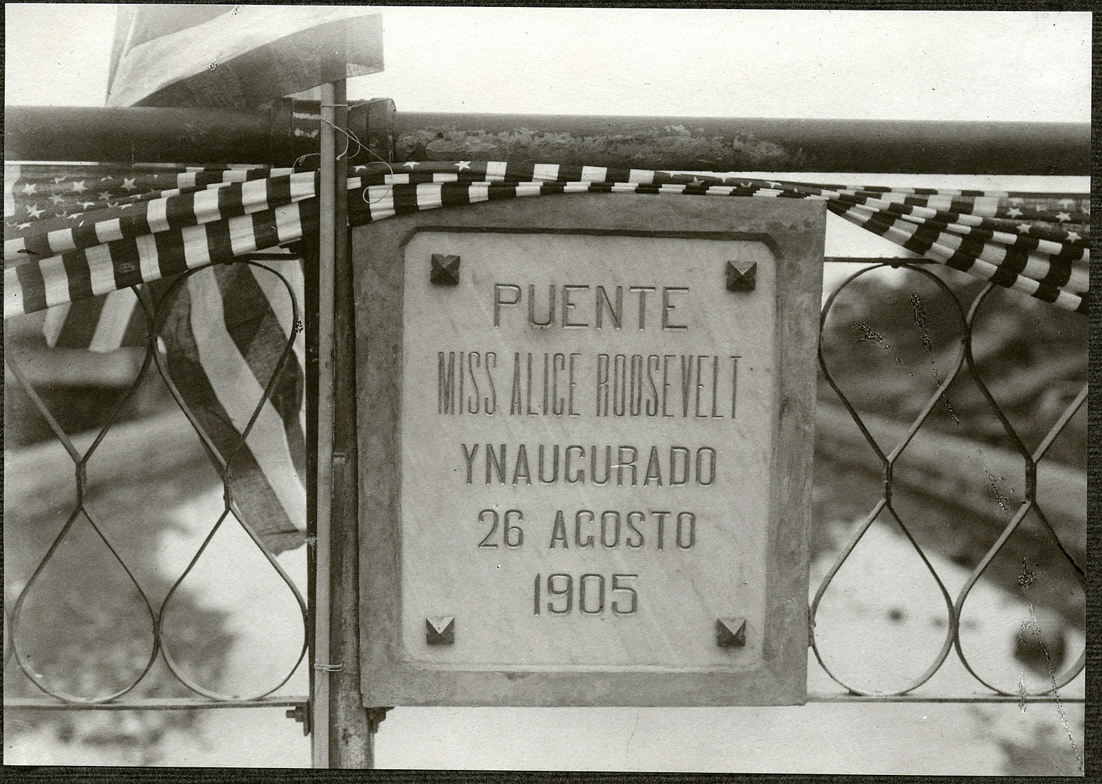 Sorsogon: Plaque of Miss Alice Roosevelt Bridge