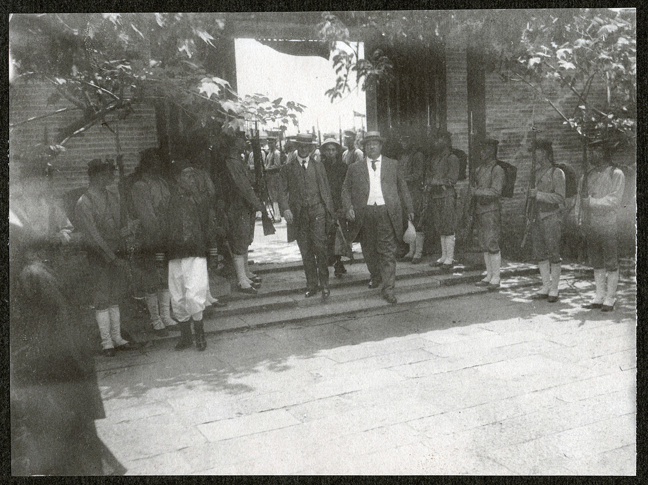 Secretary of War William H. Taft in Canton with Consul Lay at the Viceroy's palace