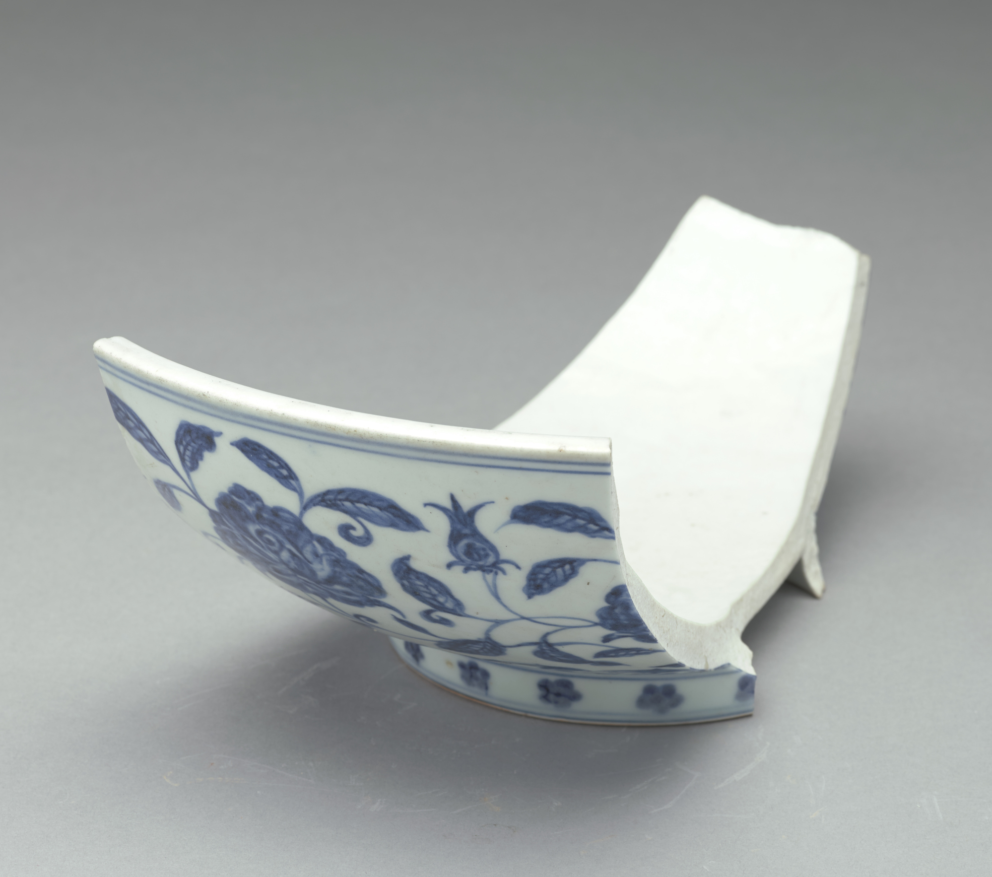 1 of 2 fragments of a blue-and-white bowl formerly in Mr. Johnson's collection (Goes with FSC-P-241)