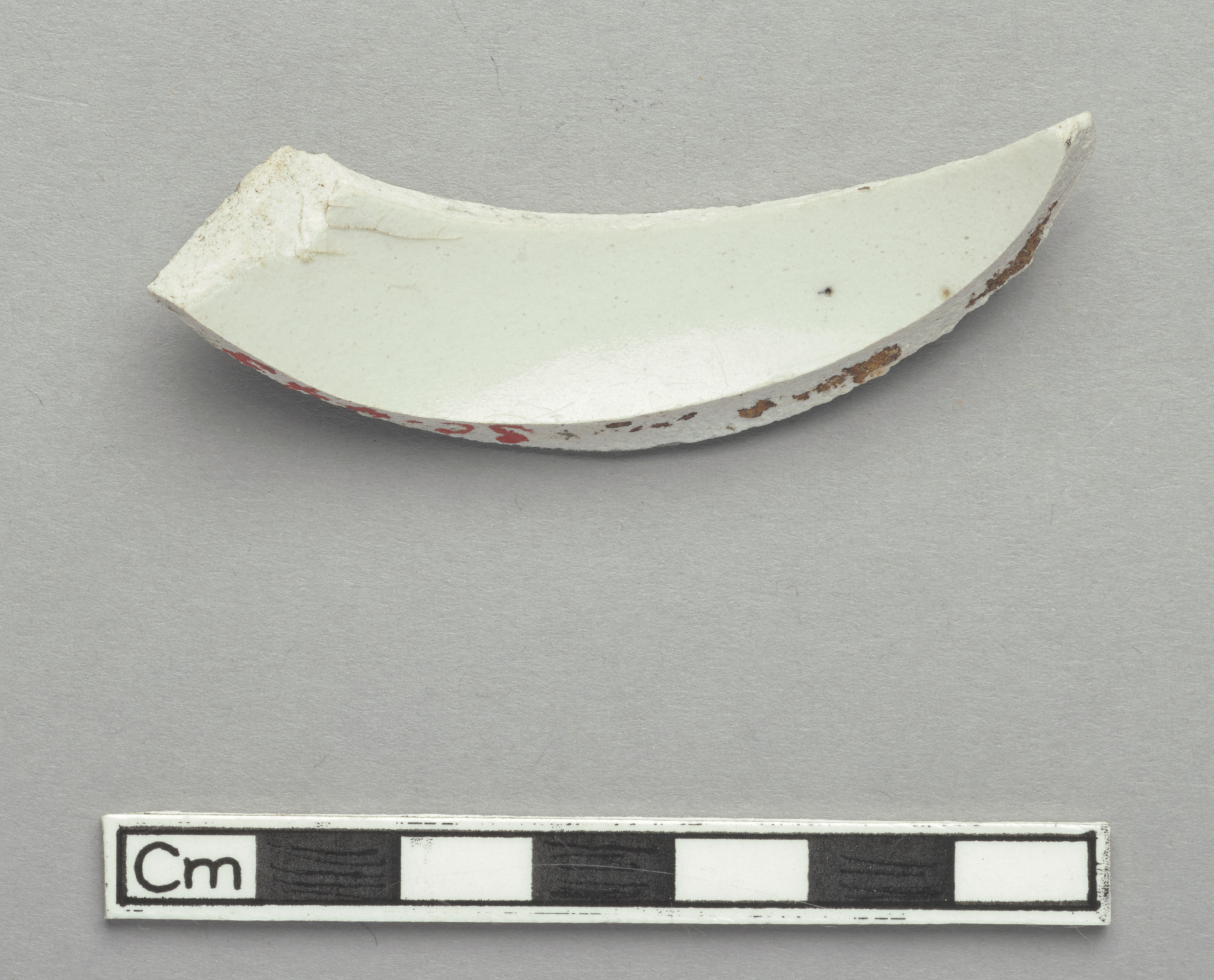 Fragment, possibly from shoulder of a small bottle or ewer