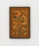 Mirror case with flowers and birds